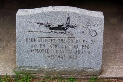 Marker at Base of M-551A1 Sheridan image. Click for full size.