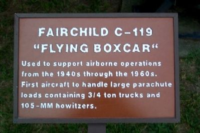 "Fairchild C-119 ""Flying Boxcar"" Marker image. Click for full size."