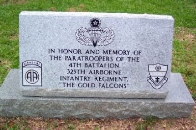 4th Battalion, 325th Airborne Infantry Regiment Memorial image. Click for full size.