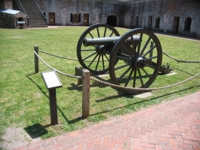 Model 1841 6-pounder Field Cannon and Marker image. Click for full size.