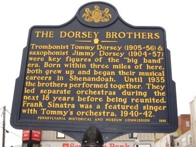 The Dorsey Brothers Marker image. Click for full size.