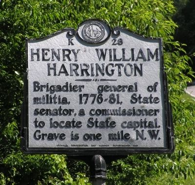 Henry William Harrington Marker Photo, Click for full size