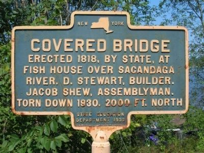 Fish House Covered Bridge Marker image. Click for full size.