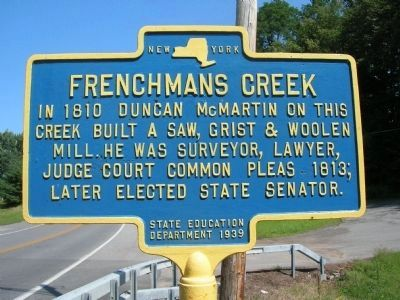 Frenchmans Creek Marker image. Click for full size.