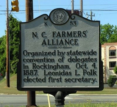 N.C. Farmers' Alliance Marker image. Click for full size.