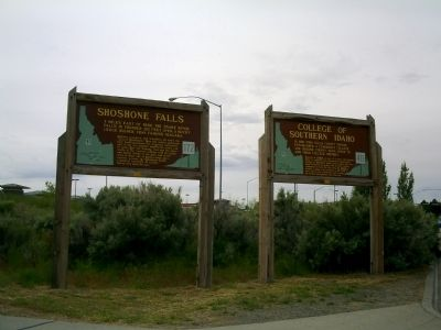 Markers Next to Perrine Bridge in Twin Falls image. Click for full size.