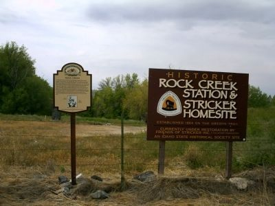 Rock Creek Marker Next to Restoration Site image. Click for full size.