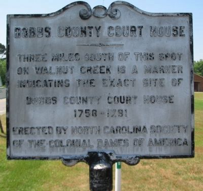 Dobbs County Court House Marker image. Click for full size.