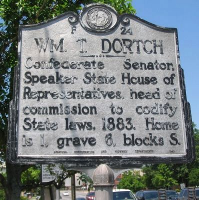 Wm. T. Dortch Marker Photo, Click for full size