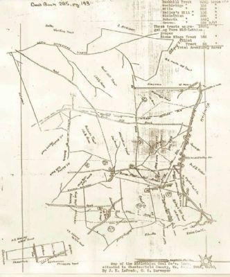 Map of Midlothian Coal Co.�s land. image. Click for full size.