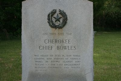 Cherokee Chief Bowles Marker Photo, Click for full size