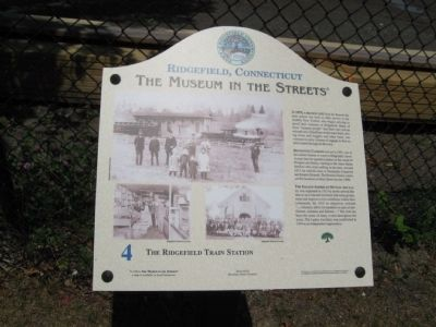 The Ridgefield Train Station Marker image. Click for full size.