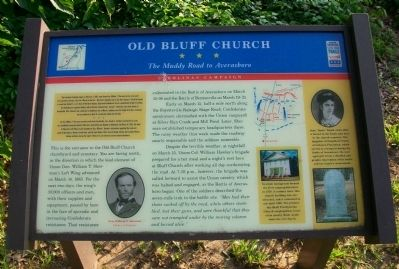 Old Bluff Church Civil War Trail Interpretive Marker image. Click for full size.