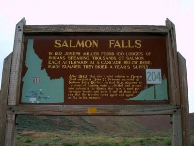 Salmon Falls Marker image. Click for full size.