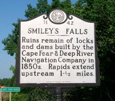 Smiley's Falls Marker image. Click for full size.