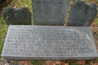 Bethesda Presbyterian Cemetery Marker image. Click for full size.