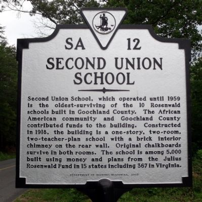 Second Union School Marker image. Click for full size.