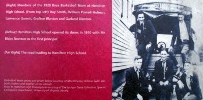 1920 Boys Basketball Team at Hamilton High School image. Click for full size.