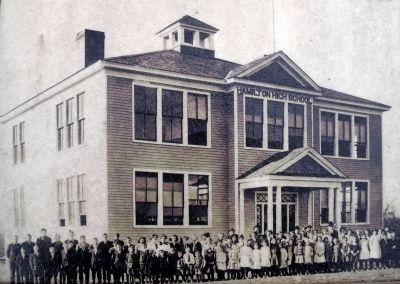 Hamilton High School opened its doors in 1910 with Mr. Blake Newton as the first principal. image. Click for full size.