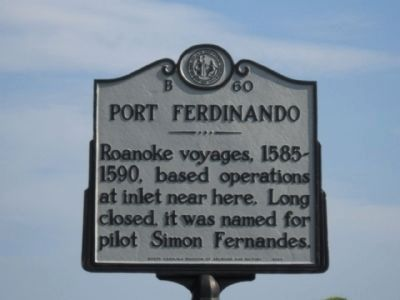 Port Ferdinando Marker image. Click for full size.