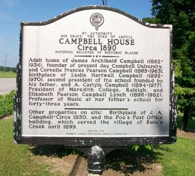 Campbell House Marker image. Click for full size.