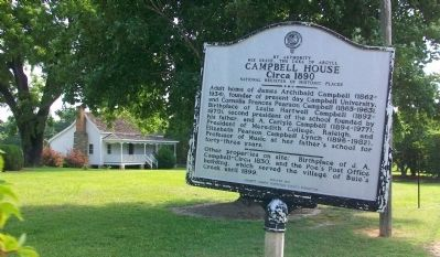Campbell House Marker Photo, Click for full size