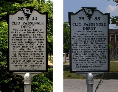 Clio Passenger Depot Marker image. Click for full size.