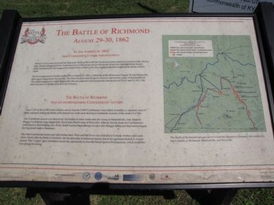 The Battle of Richmond Marker image. Click for full size.