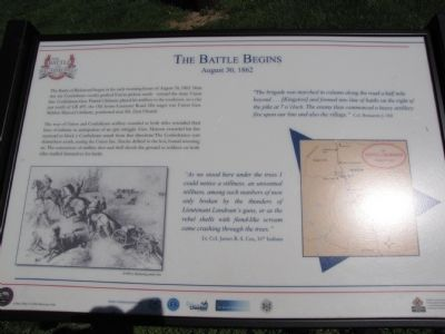 The Battle Begins Marker Photo, Click for full size