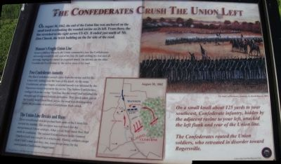 The Confederates Crush The Union Left Marker image. Click for full size.