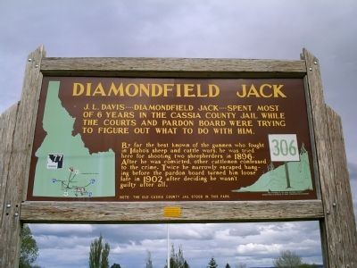 Diamondfield Jack Marker Photo, Click for full size