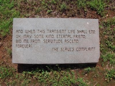 Slave Cemetery Marker Photo, Click for full size