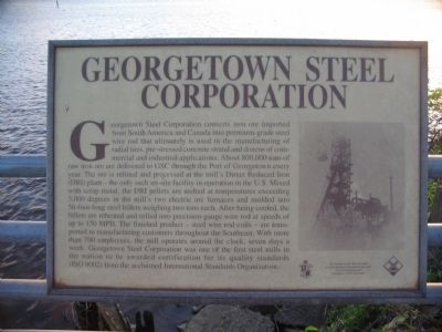 Georgetown Steel Corporation Marker image. Click for full size.