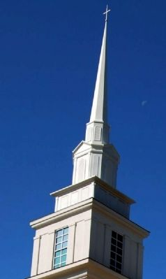 Simpsonville Baptist Church Steeple image. Click for full size.