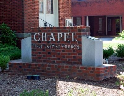 First Baptist Church Chapel -<br>Simpsonville Baptist Church image. Click for full size.