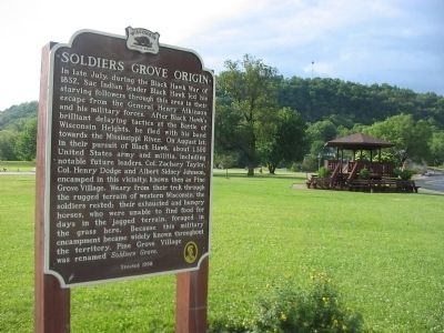 Soldiers Grove Origin Marker image. Click for full size.