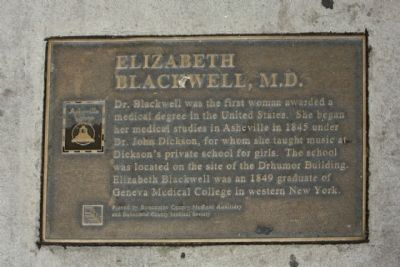 Elizabeth Blackwell, M.D. Marker Photo, Click for full size
