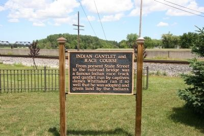 Indian Gantlet and Race Course Marker Photo, Click for full size