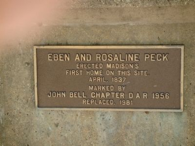 Related Peck Cabin Marker Photo, Click for full size