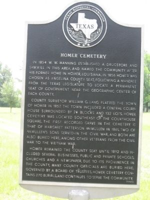 Homer Cemetery Marker image. Click for full size.