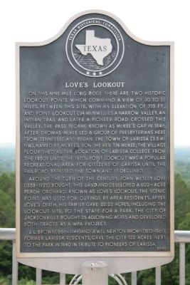 Love's Lookout Marker image. Click for full size.