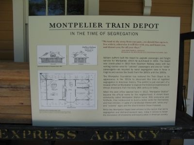 Montpelier Train Station Marker image. Click for full size.