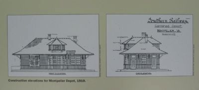 Construction Elevations for Montpelier Depot, 1910 image. Click for full size.