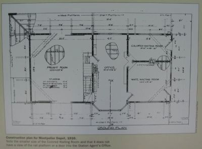 Construction Plan for Montpelier Depot, 1910 image. Click for full size.