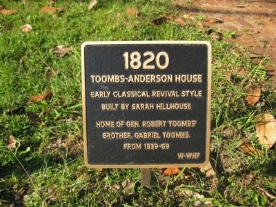 Toombs-Anderson House Marker image. Click for full size.