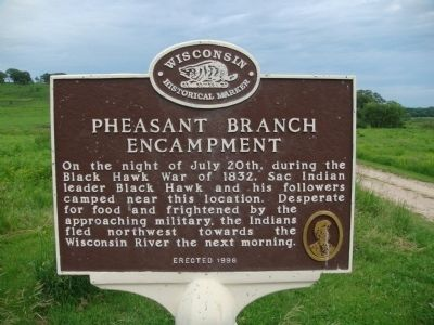 Pheasant Branch Encampment Marker image. Click for full size.