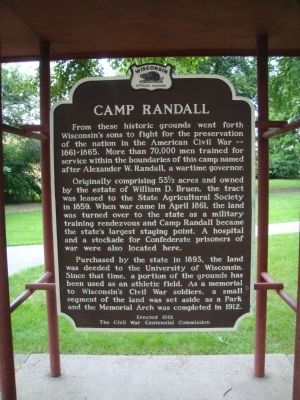 Camp Randall Marker image. Click for full size.