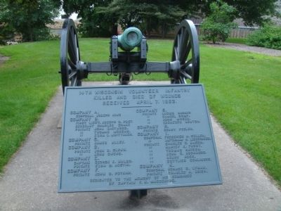 Cannon and Plaque near Camp Randall Marker image. Click for full size.