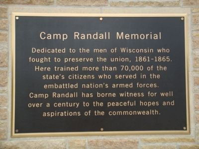 Related Marker on Camp Randall Sports Facility image. Click for full size.