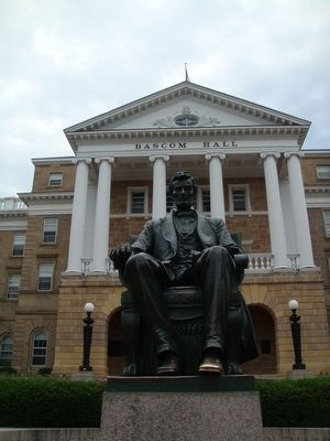 Lincoln Statue in front of Bascom Hall near North Hall image. Click for full size.